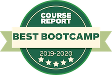 Course Report award for best coding bootcamp 2019-2020