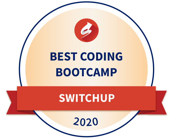 Award for best coding bootcamp in 2020 from Switchup