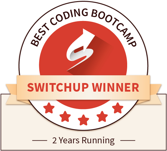 Switchup winner best coding bootcamp 2 years running
